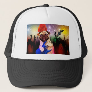 Boné Cão da rocha - partido do pug - guitarra do pug -