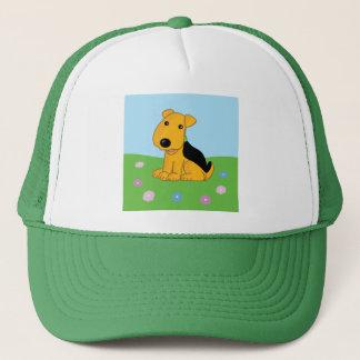 Boné Cão de filhote de cachorro bonito de Airedale no