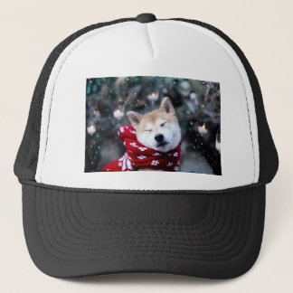 Boné Cão de Shiba - cão do doge - Feliz Natal