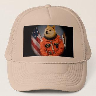 Boné cão do astronauta - doge - shibe - memes do doge