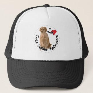 Boné Cão engraçado & bonito adorável feliz do golden