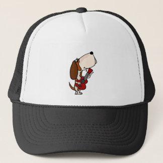 Boné Cão engraçado de Basset Hound que joga a guitarra