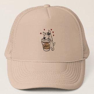 Boné Cão eu amo o café