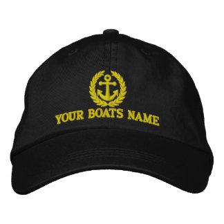 Boné Capitães personalizados do barco de navigação