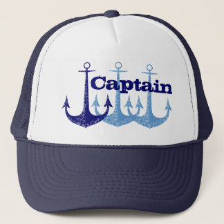 Boné Capitão azul da âncora