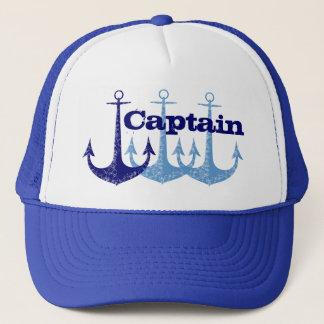 Boné Capitão azul da âncora, menino personalizado