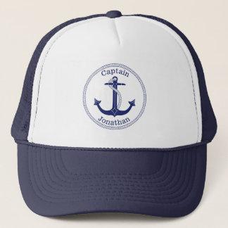 Boné Capitão náutico Personalized da âncora