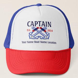 Boné Capitão personalizado Chapéu Ano Nome Lugar