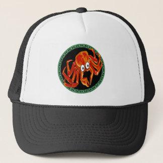 Boné Caranguejo de rei alaranjado tropical do mar do