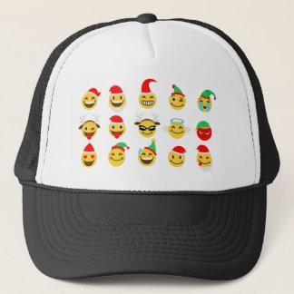 Boné caras felizes do emoji do xmas