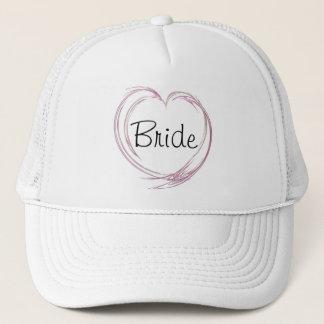 Boné Casamento abstrato cor-de-rosa da noiva do coração