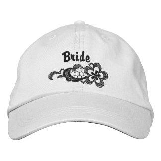 Boné Casamento preto do laço - chapéu da noiva