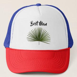 Boné Casamento tropical da folha da fronda da palma do