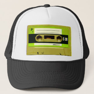 Boné Cassete de banda magnética retro do verde limão