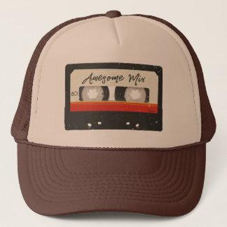 Boné Cassete de banda magnética retro do vintage da