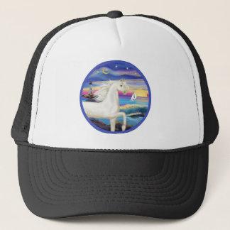 Boné Cavalo árabe Rocha-Mar-Branco