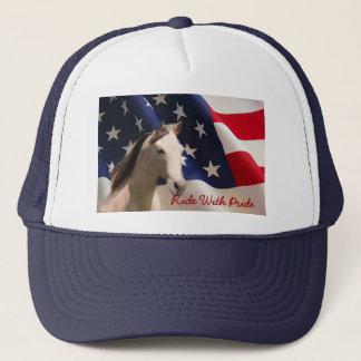 Boné Cavalo com o chapéu da bandeira americana