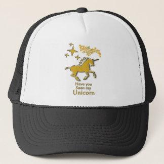 Boné Cavalo do pônei do unicórnio do ouro com estrelas