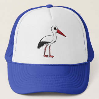 Boné Cegonha branca de Birdorable