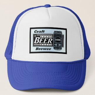 Boné Cervejeiro da cerveja do artesanato - o preto azul