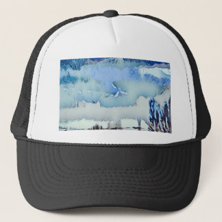 Boné Céu colorido do horizonte do abstrato do azul do