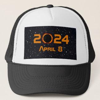 Boné Céu estrelado da data total do eclipse 2024 solar
