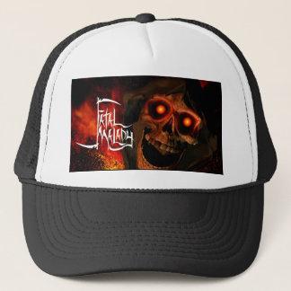 Boné chapéu 1 do camionista da CABEÇA da CEIFEIRA do