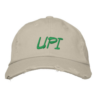 Boné Chapéu ajustável rasgado velho do UPI