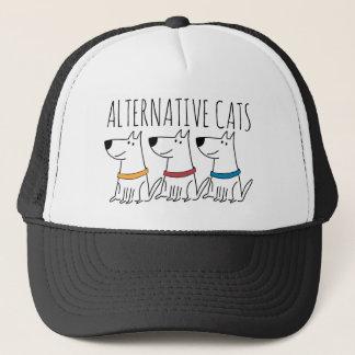 Boné Chapéu alternativo do camionista dos gatos
