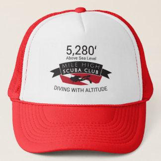 Boné Chapéu alto do clube do mergulhador de 5280 milhas