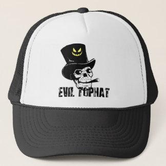 Boné Chapéu alto do mau do crânio e do charuto