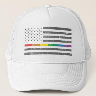 Boné Chapéu americano do camionista da bandeira do