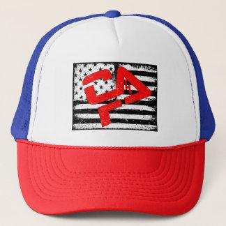 Boné Chapéu azul branco vermelho do camionista de CFHV