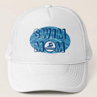 Boné Chapéu azul da mamã da natação da água da piscina