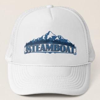 Boné Chapéu azul da montanha do barco a vapor