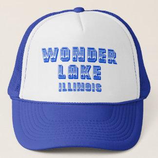Boné Chapéu azul do camionista da linha de flutuação de