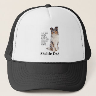 Boné Chapéu azul do pai de Merle Sheltie