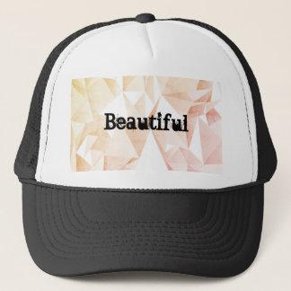 Boné Chapéu bonito do camionista com fundo geométrico