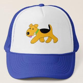 Boné Chapéu bonito do camionista do cão de filhote de