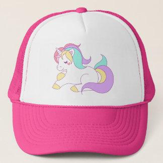 Boné Chapéu bonito do camionista do unicórnio do