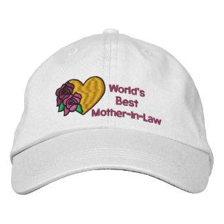 Boné Chapéu bordado a melhor sogra dos mundos