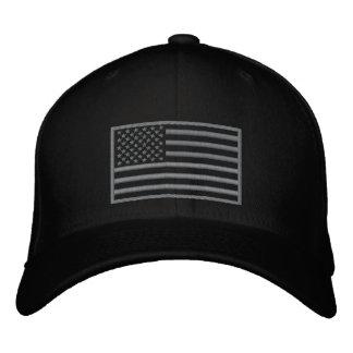 Boné Chapéu bordado bandeira Subdued dos E.U. das cores