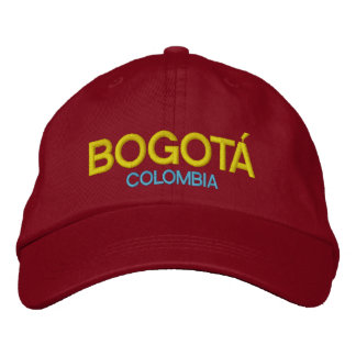 Boné Chapéu bordado Colômbia de Bogotá