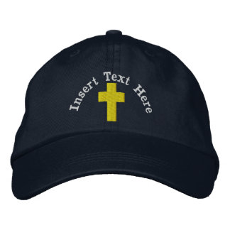 Boné Chapéu bordado cristão