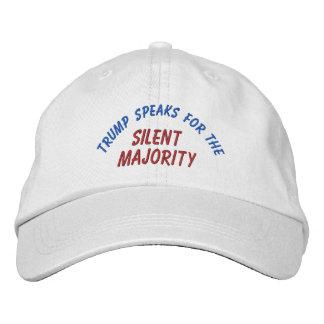 Boné Chapéu bordado da maioria silenciosa do trunfo