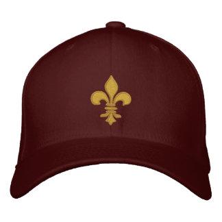 Boné Chapéu bordado flor de lis do ouro