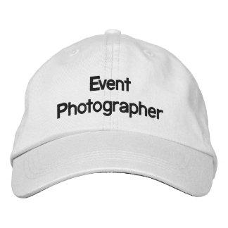 Boné Chapéu bordado fotógrafo do evento