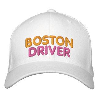 Boné Chapéu bordado motorista de Boston