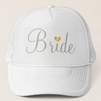Boné Chapéu - branco cinzento do coração da noiva