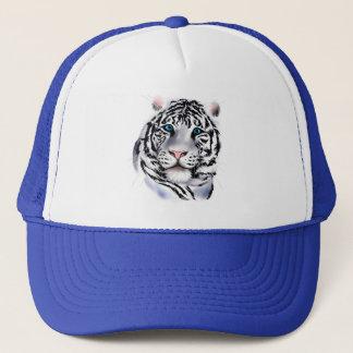 Boné Chapéu branco da cara do tigre